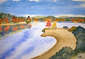 Watercolor of the day - Autumn Shore Lore